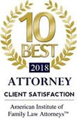 10 Best Attorney 2018 | Client Satisfaction | American Institute of Family Law Attorneys